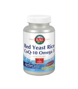 Red yeast rice, CoQ-10 y omega 3 60 cápsulas
