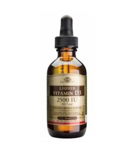 Vitamina D3 Líquida 2500I IU - Solgar