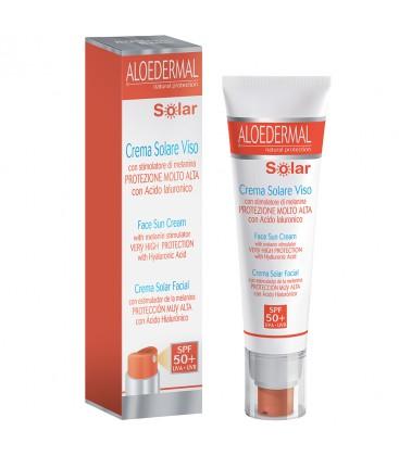 Crema solar facial SPF 50  Aloedermal