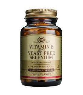 Vitamina E con Selenio (sin levadura) Solgar
