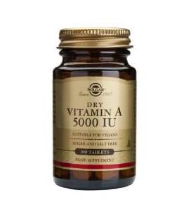Vitamina A seca 5000 UI Solgar