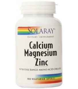 Calcio, Magnesio y Zinc 100 cápsulas Solaray